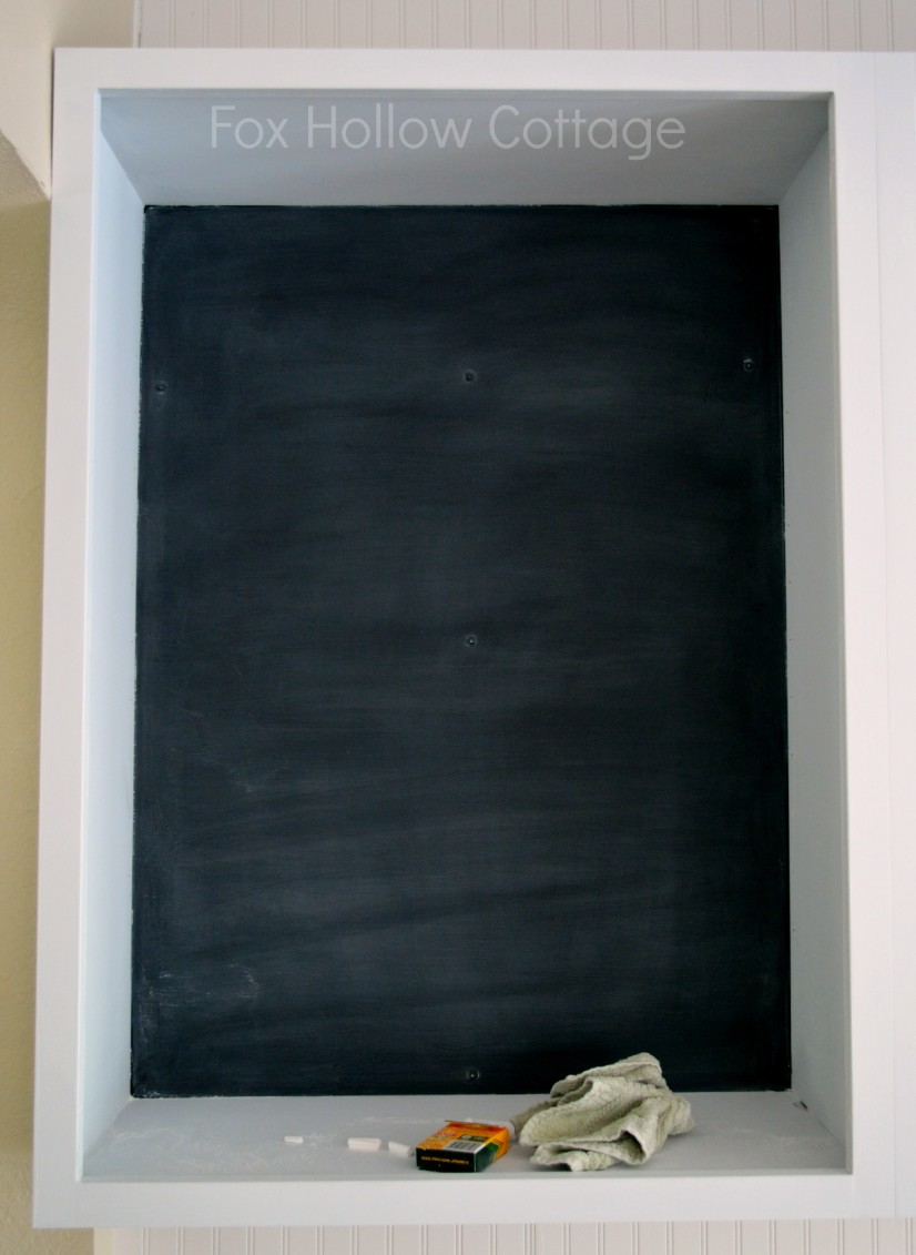How to Prepare or Season a Chalkboard or Chalkboard Painted Surface 2