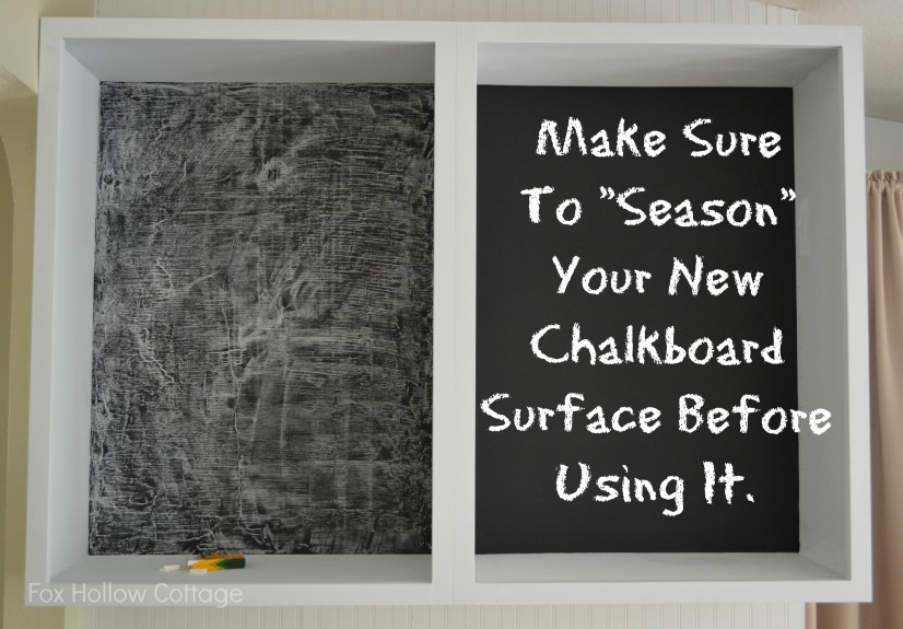 How to Prepare or Season a Chalkboard or Chalkboard Painted Surface