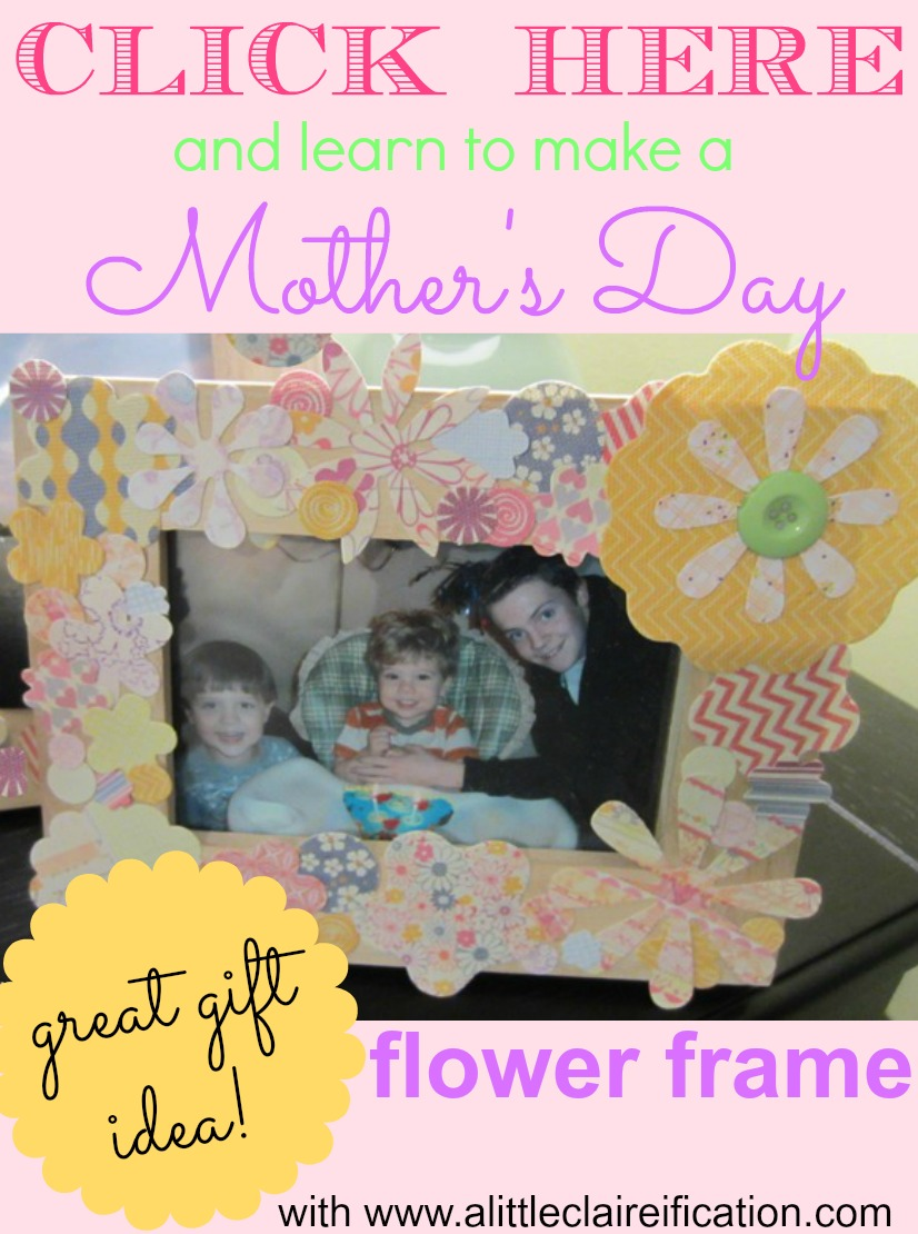 Mother's Day Gift DIY Mod Podge Frame Gift Craft