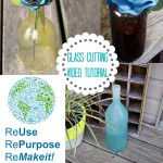 Repurposed Wine Bottle Crafting {how-to cut a wine bottle video tutorial}