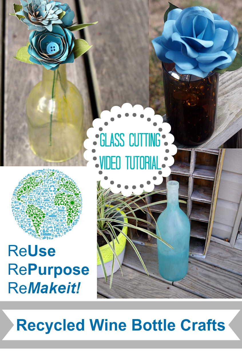 Repurposed wine bottle crafting how to cut a wine bottle for How to cut the bottom off a wine bottle easily