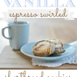 Let's Bake! Vanilla Espresso Shortbread Cookies {a recipe}
