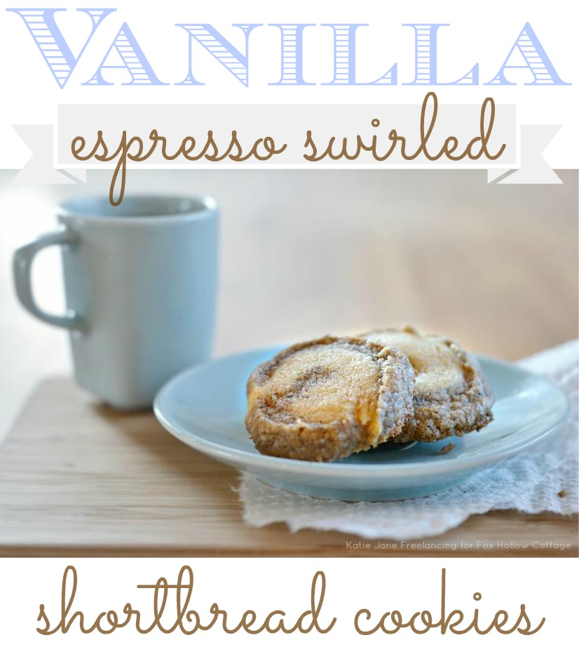 Vanilla espresso shortbread cookie recipe