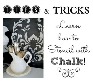 How To Stencil With Chalk! {tips to get it right}