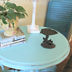 Beach Chic Table Makeover {before & after}