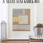 Scrappy Wall Art; a West Elm knock-off!
