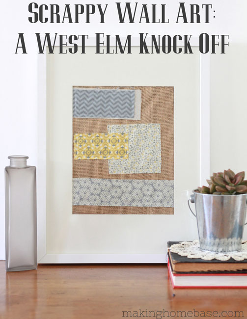 West Elm Scrappy Wall Art Knock Off Frugal Version