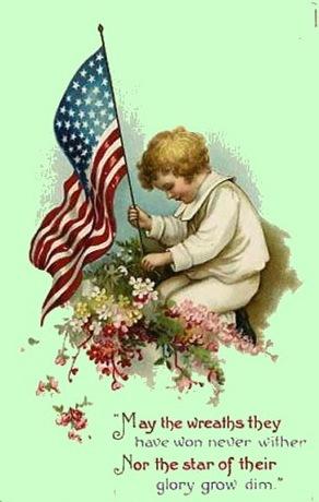 memorial day vintage image