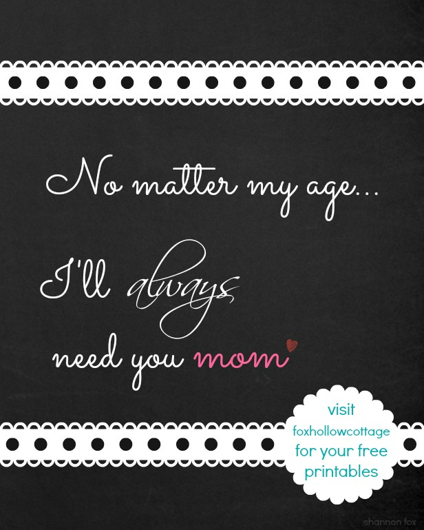 8 x 10 chalk board mother's day printable fb