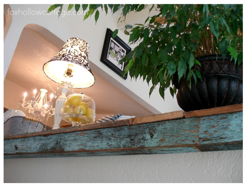 Back View - DIY Wood Countertop - Underside, Coming Up On The Stairs