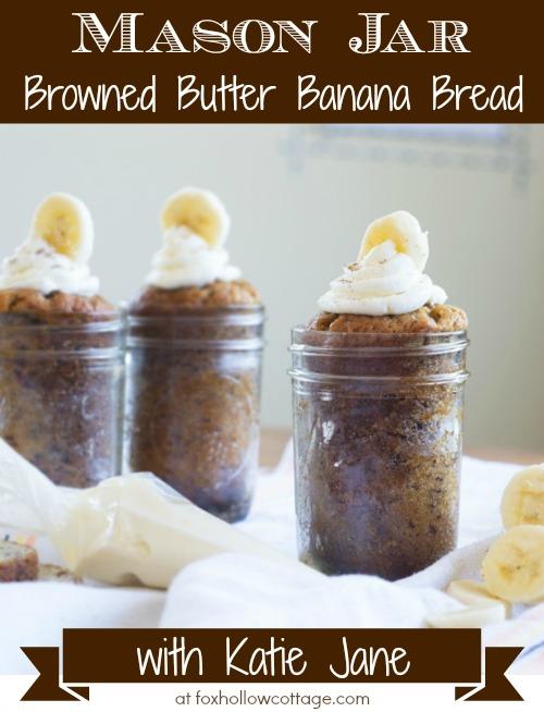 Mason Jar Browned Butter Banana Bread Recipe #masonjar #bananabread #recipe