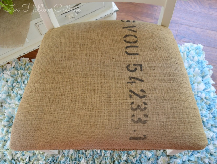 Coffee Bag Chair Upholstery | #diy #repurpose #coffeebag #buralp #hemp