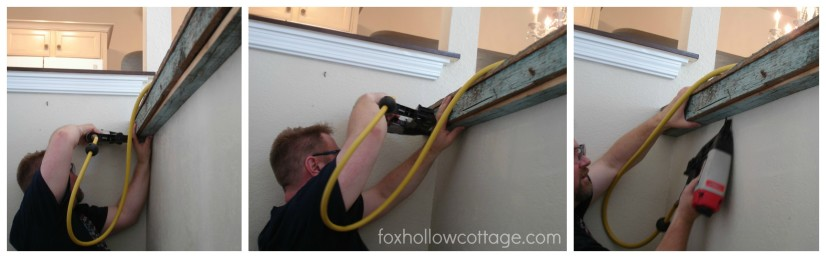 DIY fence board counter install