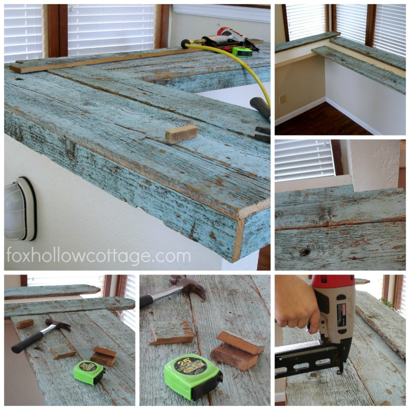 Dry fitting and installing fence board wood countertops