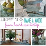 How To Make A Wood Fence Board Countertop