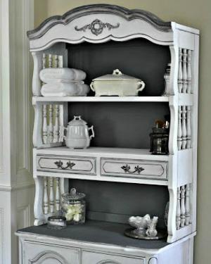 Maison Blanche LaCraie Chalk Paint Painted Cabinet Furniture Makover1