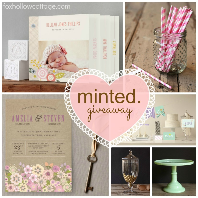 Minted Giveaway invitations party supplies announcements 2