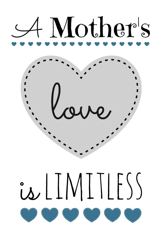 Mother's Day printable blk blue grey