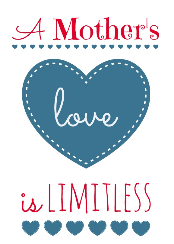 Mother's Day printable denim blue red