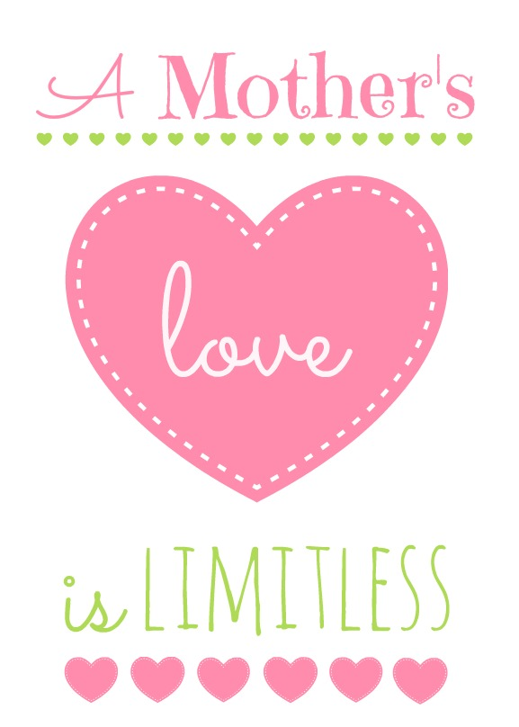 Mother's Day printable pink lime