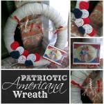 Vintage Americana Patriotic Pool Noodle Wreath