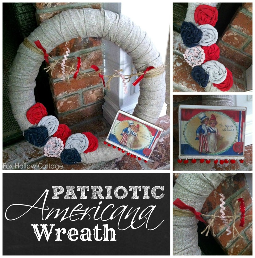 Patriotic Pool Noodle Wreath Vintage Americana DIY Craft