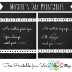 Mother's Day Chalkboard Printables: a gift idea