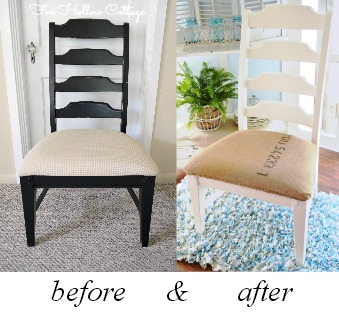 DIY coffee sack chair makeover | #repurpose #diy #upholstery