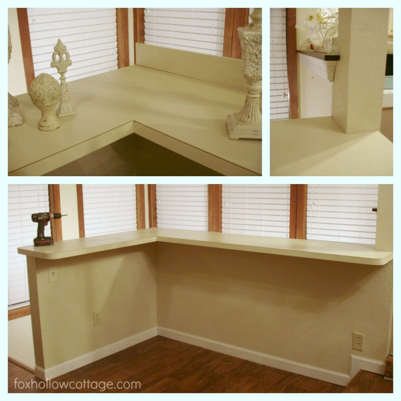 How to cover up a ugly laminate countertop -diy wood counter
