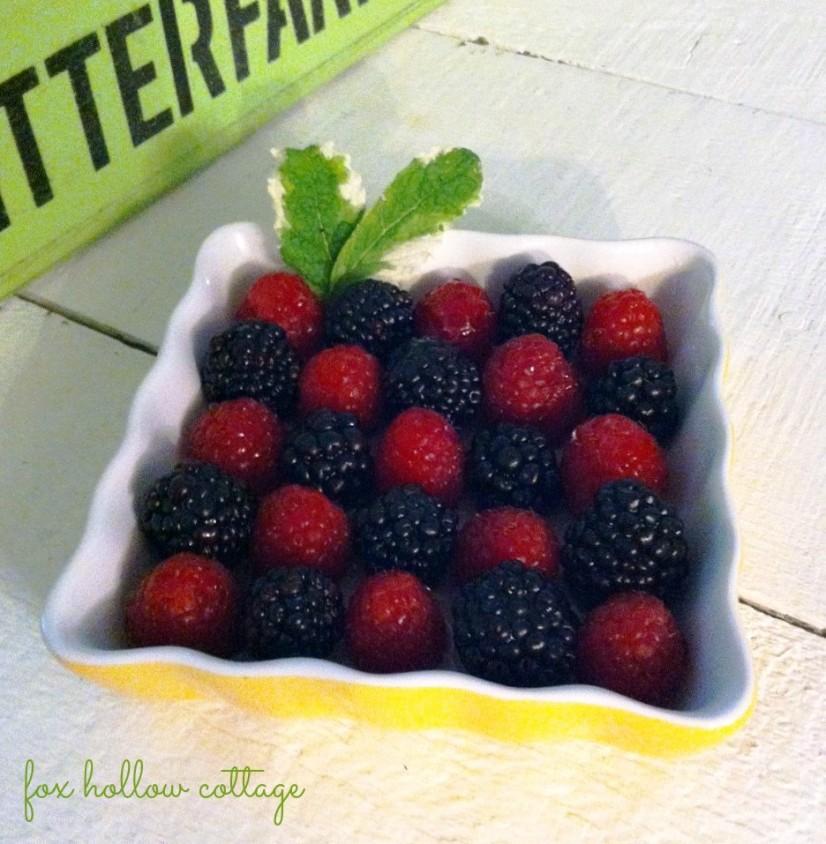 blackberry raspberry arrangement