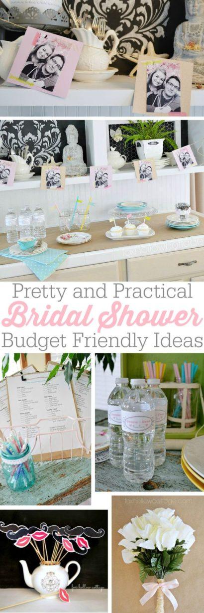 bridal shower ideas pretty practical games food decor