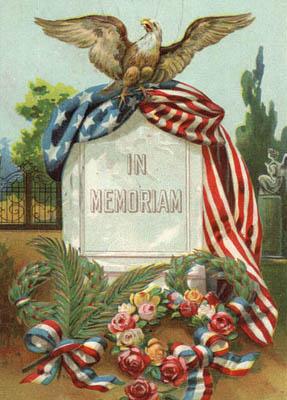 memorial day vintage image flag headstone flowers