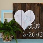 Reclaimed Pallet Wood Wedding Date Sign