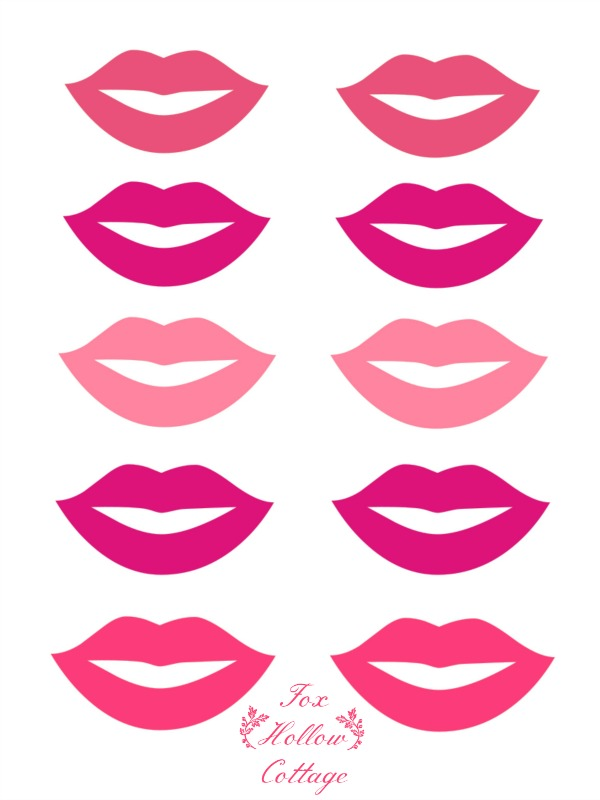 Lip Lips Printable Photo Booth Props