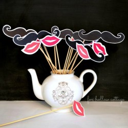 Free Lip and Mustache Printables: Photo Booth Props