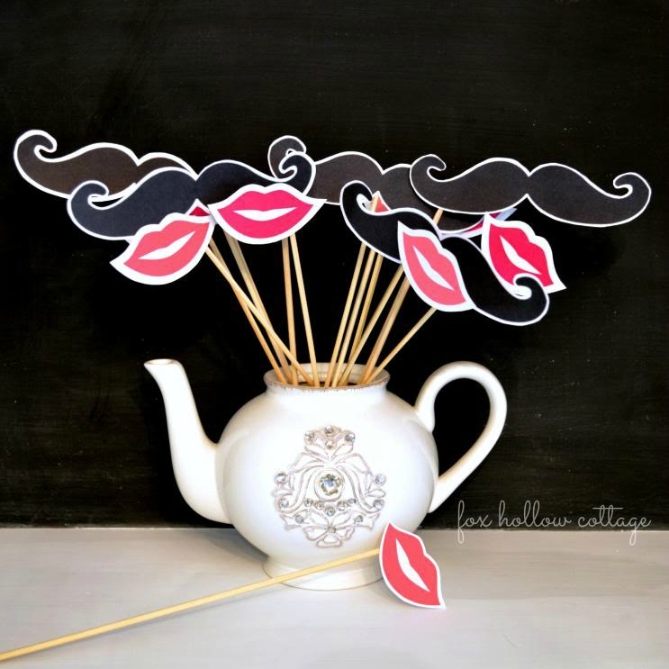 graphic about Printable Mustache and Lips named Free of charge Lip and Mustache Printables: Picture Booth Props - Fox