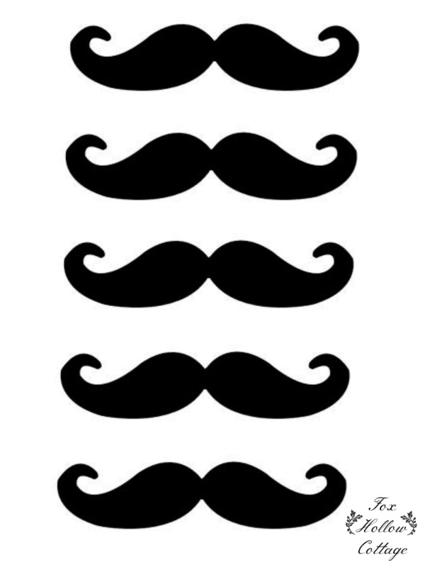 Free lip and mustache printables photo booth props fox for Mustache print out template