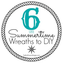 Six Super Summer Wreaths {Fun In The Sun Party Highlights and Kindle Fire HD Winner}