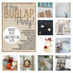 Ten Terrific DIY Burlap Ideas {and a link party too!}
