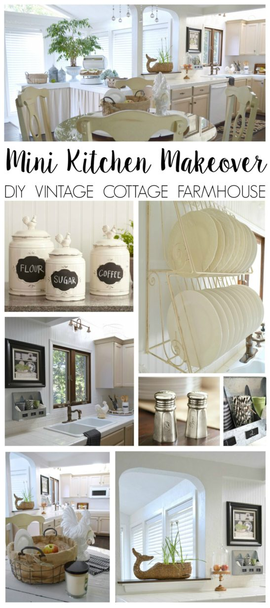 A-diy-mini-kitchen-makeover-refresh.-This-coastal-cottage-in-white-and-neutrals-gets-a-spruce-up-with-vintae-cottage-and-farmhouse-style-home-decor.