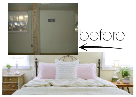 Before and After Budget Cottage Bedroom Home Remodel