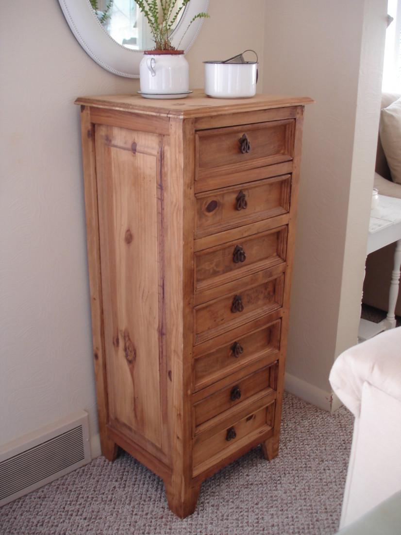 Warm Wood Dresser Chest - Before Paint