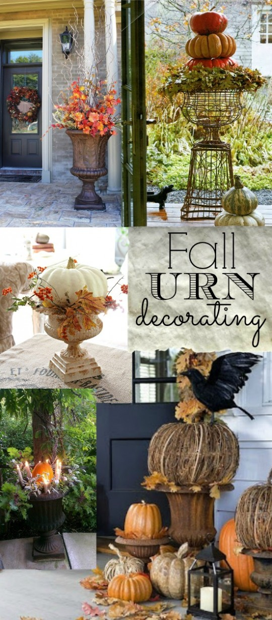 Decorating With Urns Fall Edition #fall #autumn #urn #porch #decorating