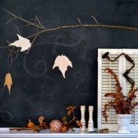 Fall Mantel Chalkboard Fireplace Natural Elements FI