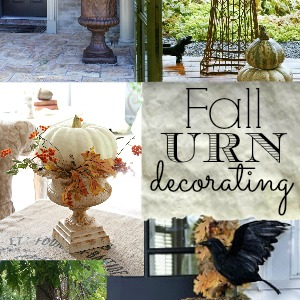 decorating with urns the fall edition fox hollow cottage - Decorating Front Porch Urns For Christmas