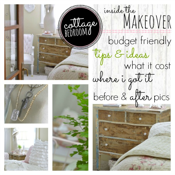 Cottage Bedroom Makeover Decorating Tips & Ideas - budget cost breakdown