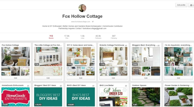 Pinterest Fox Hollow Cottage