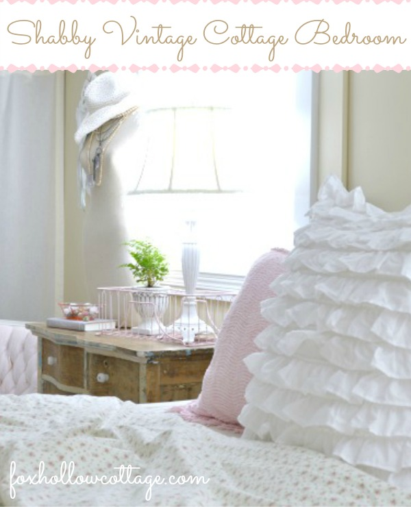 Shabby Cottage Bedroom Tour - Budget Decorating with Thrfited Finds