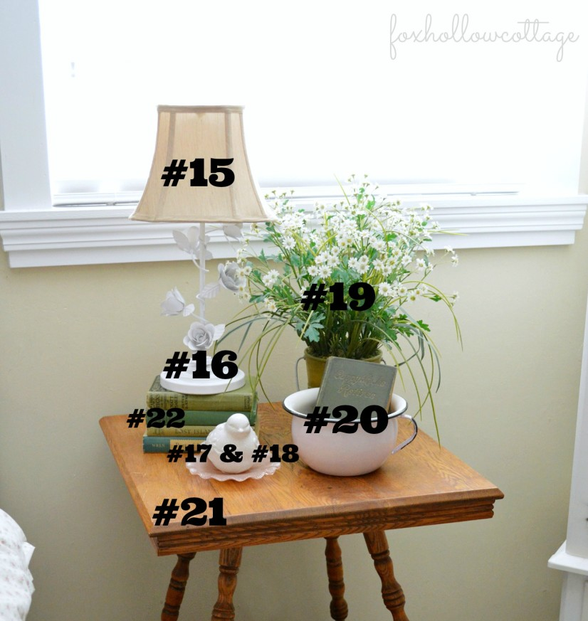 Shabby Cottage Bedroom Tour - Tag Sale Vintage Table 15-22