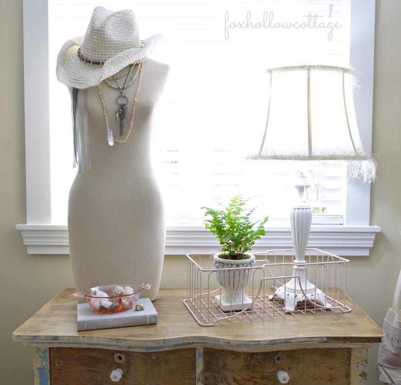 Shabby  Cottage Bedroom Tour - Vintage Antique Dresser
